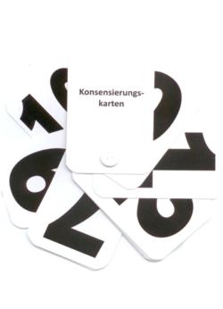 Konsensierungskarten bzw. Konsensierungsfächer